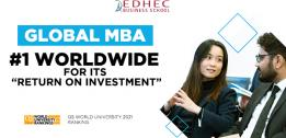 QS confirms the excellence of EDHEC's Global MBA and MSc in Marketing Management programmes and ranks them among the most competitive in the world