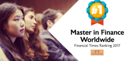 Financial Times ranking 2017: #1 Master in Finance Worldwide