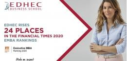 Financial Times 2020 EMBA rankings: EDHEC rises 24 places to join the world's Top 50