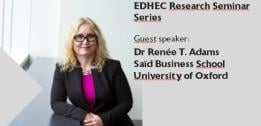 EDHEC Faculty welcomes Oxford professor Renée B. Adams for a reseach seminar