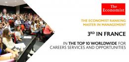 The Economist Master in Management ranking:  EDHEC ranks in the Top 3 French business schools