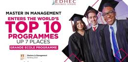 FT MiM 2021 ranking: EDHEC's Master in Management joins world's top 10