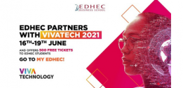 EDHEC offers 500 tickets to VIVATECHNOLOGY 2021
