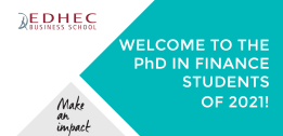 EDHEC PhD in Finance Programme welcomes its new students