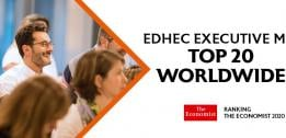 THE EDHEC EXECUTIVE MBA RANKED IN THE TOP 20 WORLDWIDE BY THE 2020 ECONOMIST RANKING