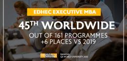 EDHEC's Executive MBA rated among the best in the world in the QS 2020 ranking