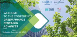 Gianfranco Gianfrate speaking on internal carbon princing at the Green Finance Research Advances Conference