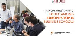 EDHEC solidly anchored among Europe's top 15 business schools