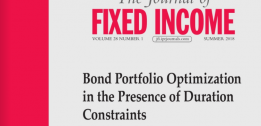 Bond Portfolio Optimization in the Presence of Duration Constraints - EDHEC-Risk Institute research article in the Journal of Fixed Income