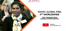 Looking for a Career Change? EDHEC's Global MBA is ranked 3rd Worldwide for Opening New Career Opportunities and 7th Overall in latest Economist Rankings