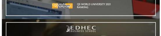 QS ranks EDHEC's Global MBA and MSc in Marketing Management among the world's most competitive courses in 2020-21